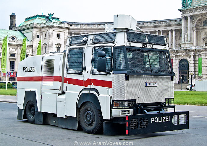 Water Cannon Vehicle Polizei Wien