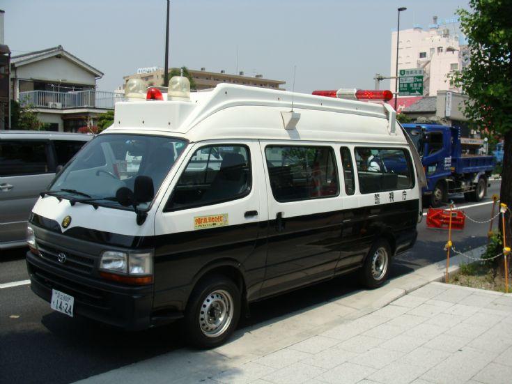Tokyo Police Department black & white van
