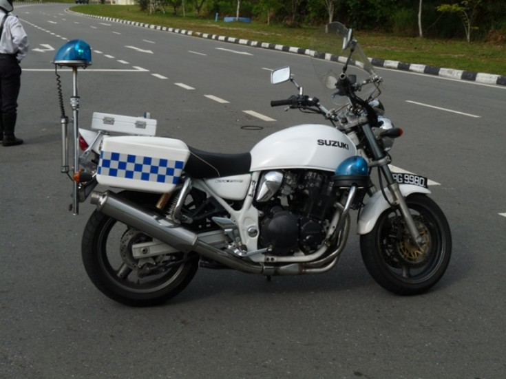 Royal Brunei police Suzuki motorcycle