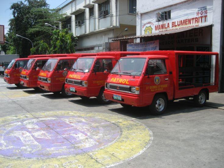 Mitsubishi Delica Police patrol units