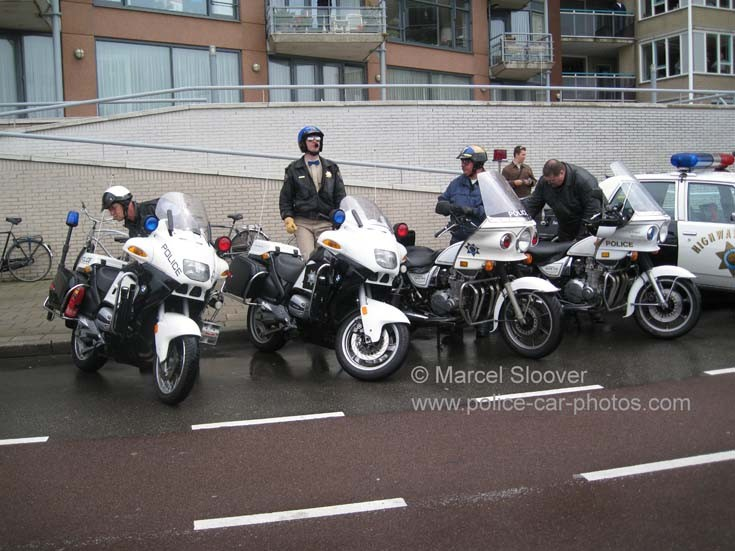 American style Police motorcycles