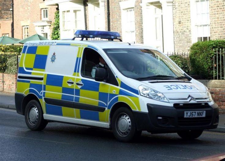 Citroen police van YJ57NNF
