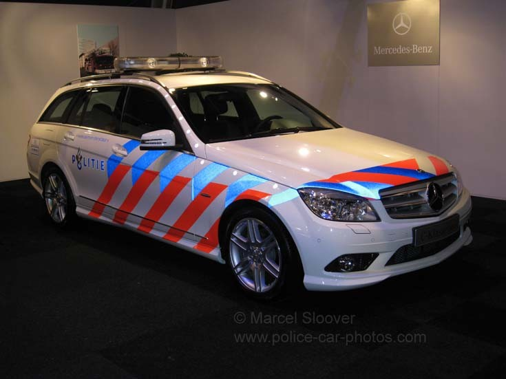 Mercedes C-class police car