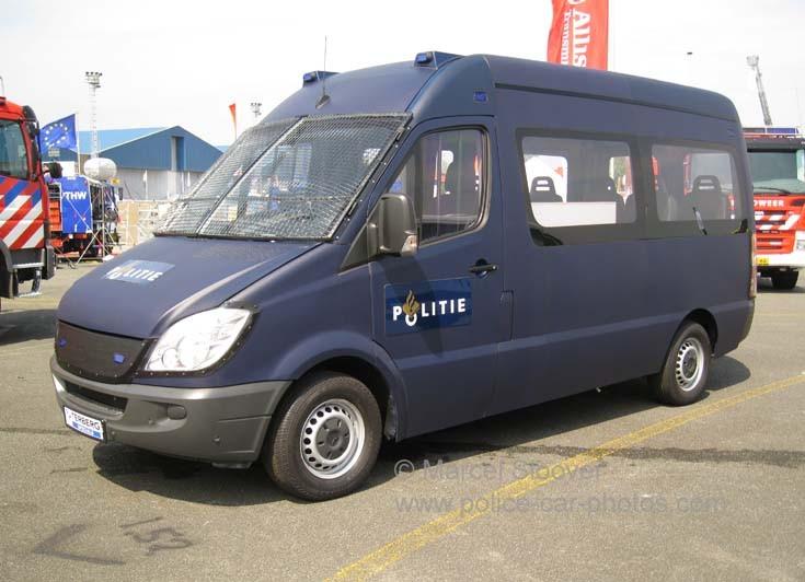 Blue Mercedes SPrinter Terberg Police van