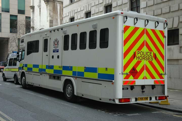 London City Police Police Horses Transport