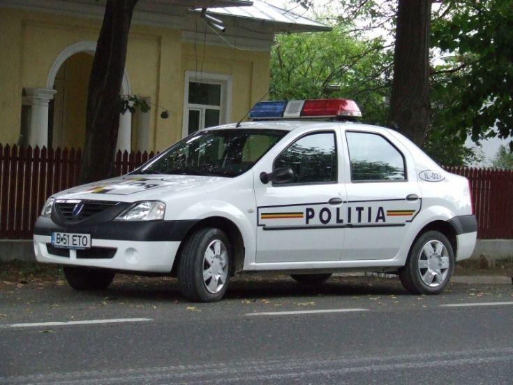 Romania Bucuresti Dacia Police car