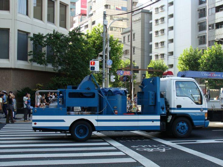 Isuzu truck Tokyo Police Japan