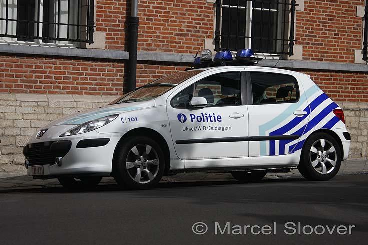 Belgium police Peugeot patrol car
