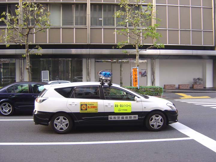 Chuo Ku Local Police patrol car Tokyo