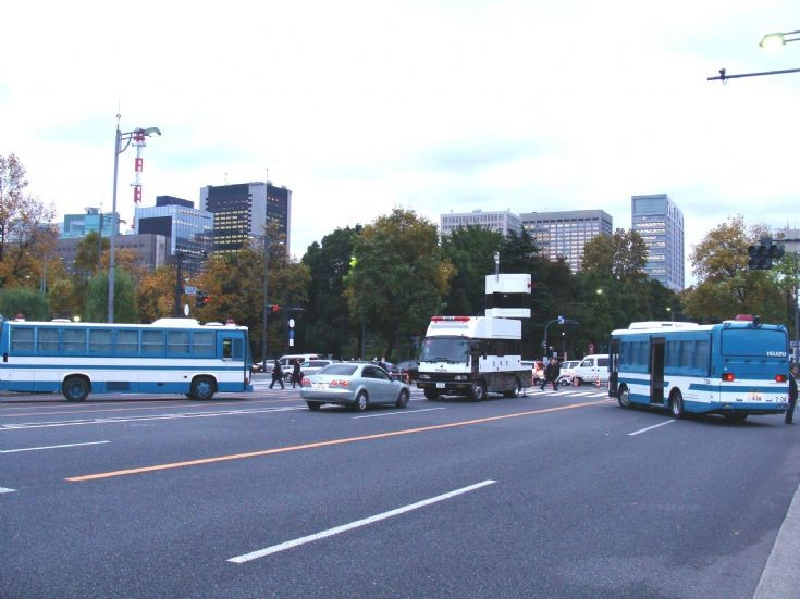 Tokyo Police Department Bus and traffic truck