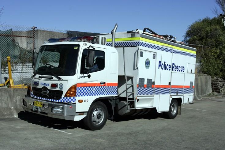 NSW Police Rescue Squad Hino, Sydney Australia