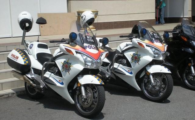 Malaysia Police - Hondas