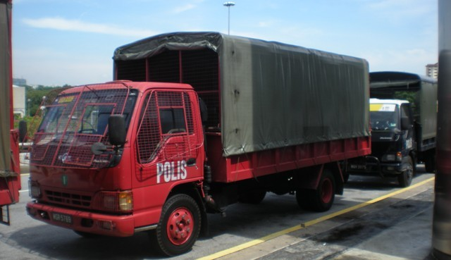 Malaysia Police - Isuzu Personnel Carriers