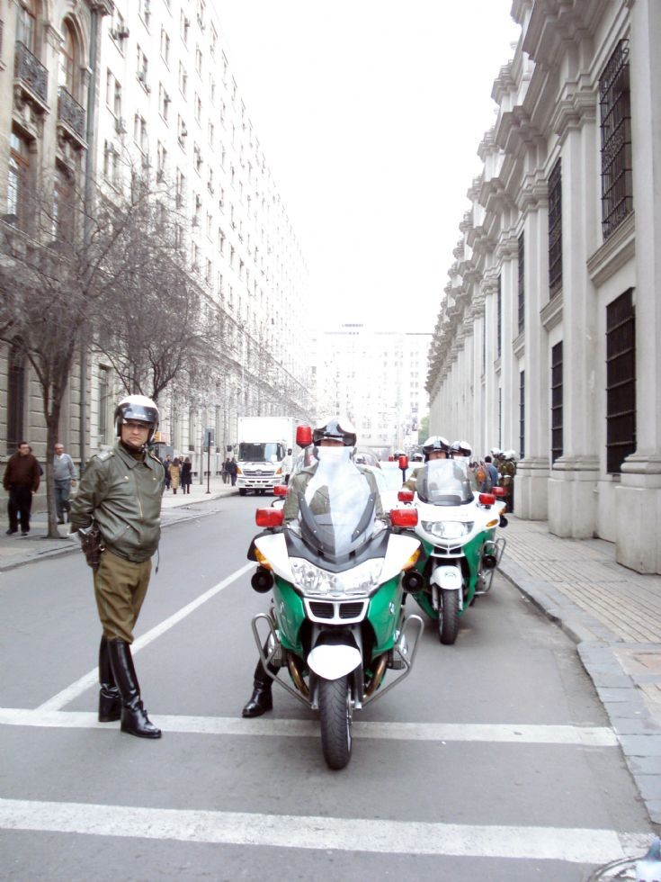 bmw motorcycles chilean police