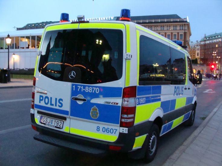 Swedish police in Stockholm
