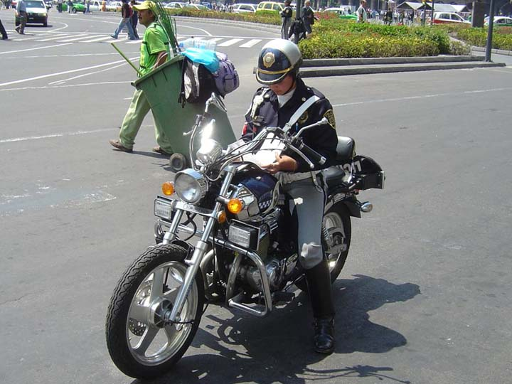 Mexico city police motorcycle