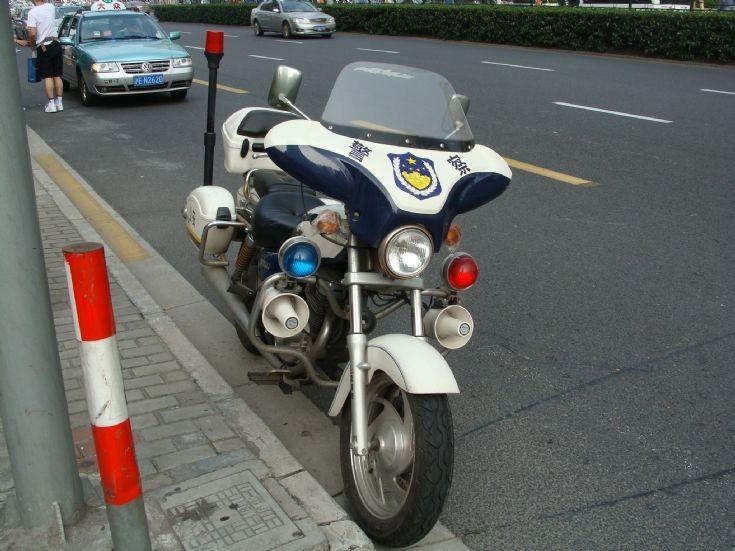 Shanghai Police Department motorbike