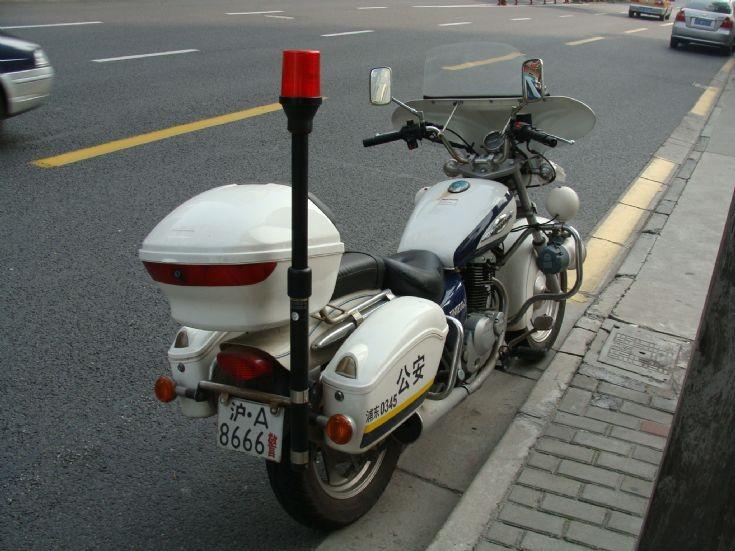 Shanghai PRC Police Department motorcycle