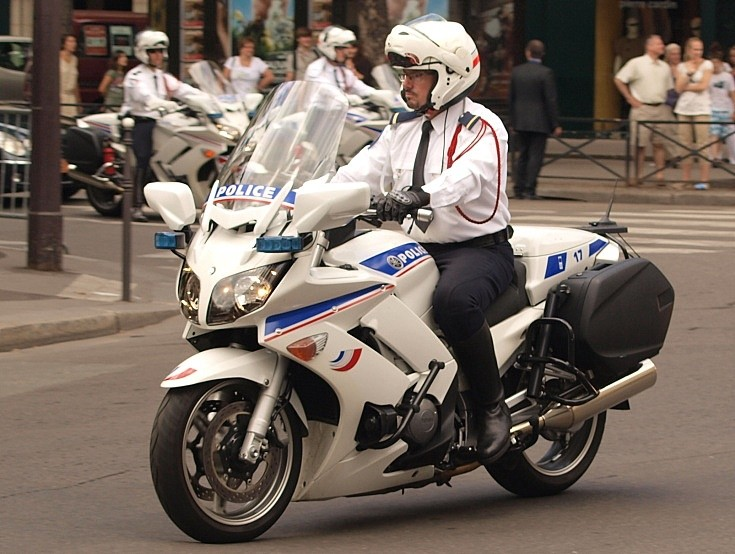 French police Yamaha motorcycle #17