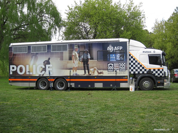 ACT Police Scania P94 truck, Canberra Australia