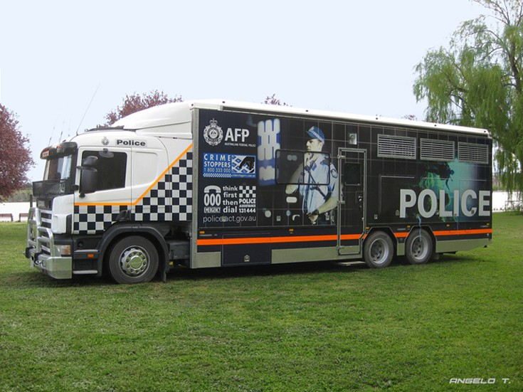 AFP-ACT Police Scania P94, Canberra Australia
