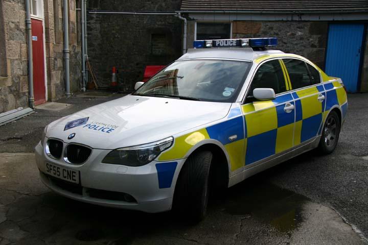 Image of a Strathclyde Police BMW patrolcar
