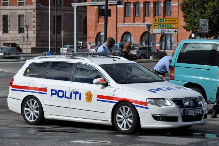 Politi patrol car Oslo, Norway