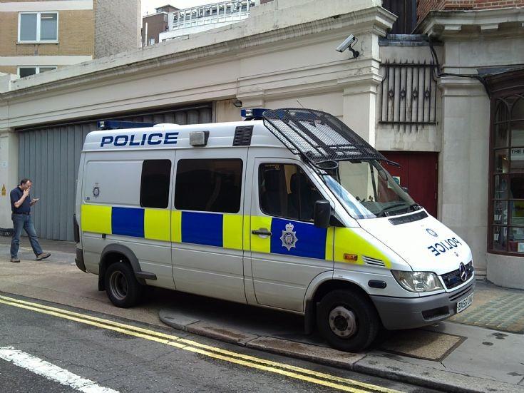 Mercedes Police Van London