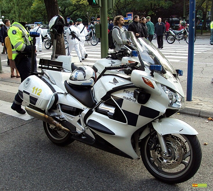 Madrid police motorbike