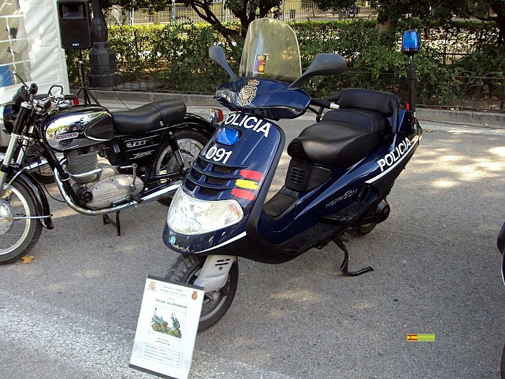 Piaggio in use by police in Spain