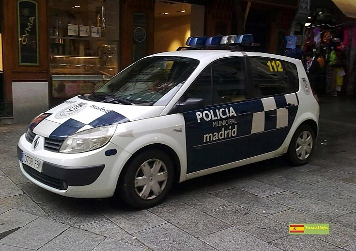 Madrid Police patrol car