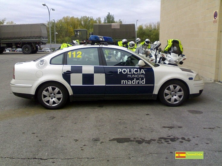 Volkswagen Passat of police in Spain