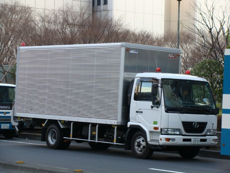 Tokyo Police Department Nissan logistics truck