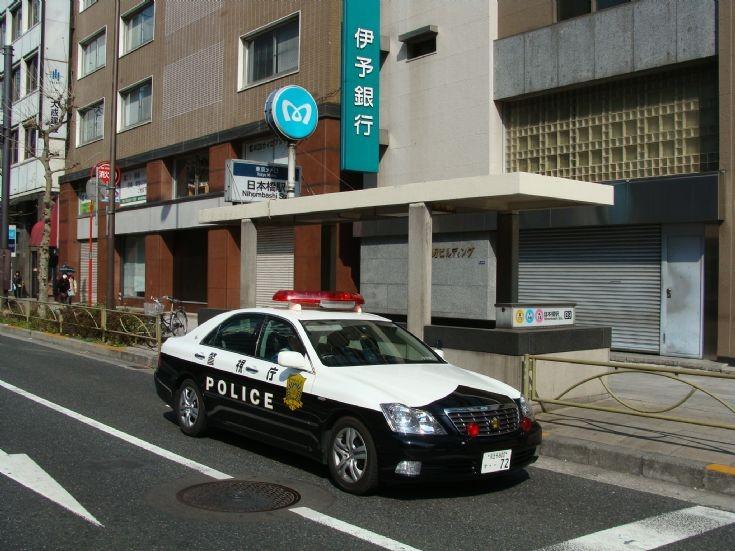 Tokyo PD Toyota Crown at Tokyo Marathon