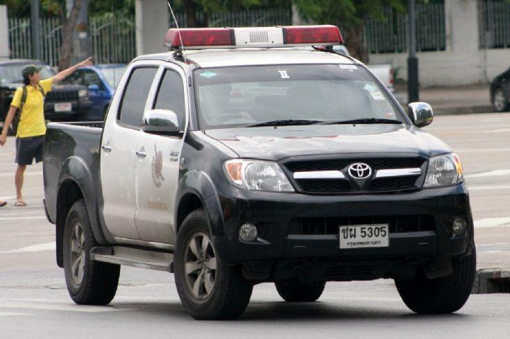 Police Car Photos Toyota Hilux Black White
