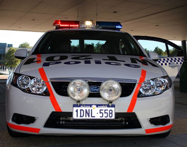 WA Police Ford Falcon pursuit vehicle