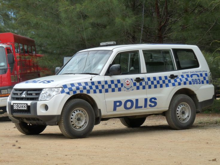 Mitsubishi Pajero Patrol vehicle in Brunei