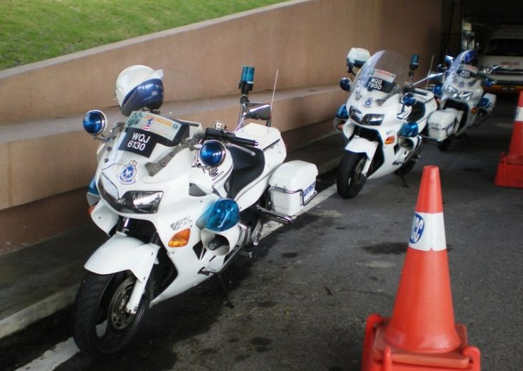 Police Car Photos Royal Malaysia Police Honda Vfr800