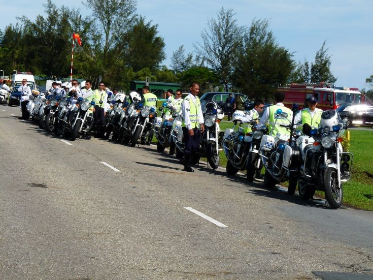 police car photos - rbpf motorcycles lineup