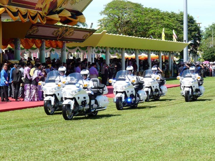police car photos - honda goldwing ceremonial motorcycles