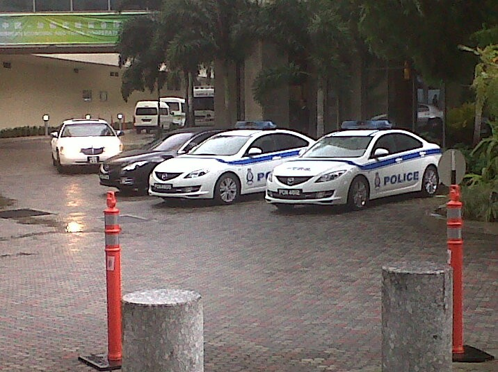 Mazda 6 police cars - Trinidad and Tobago