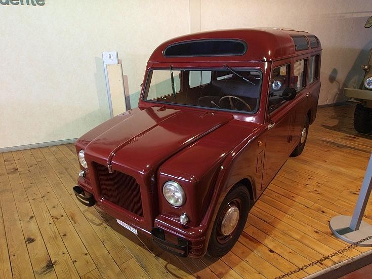 Red Fiat police van