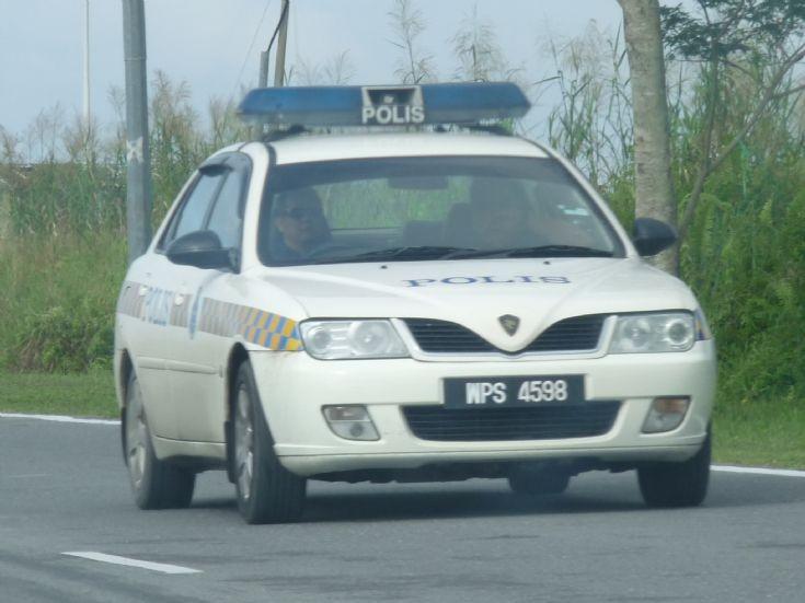 RMP Proton Waja patrol car