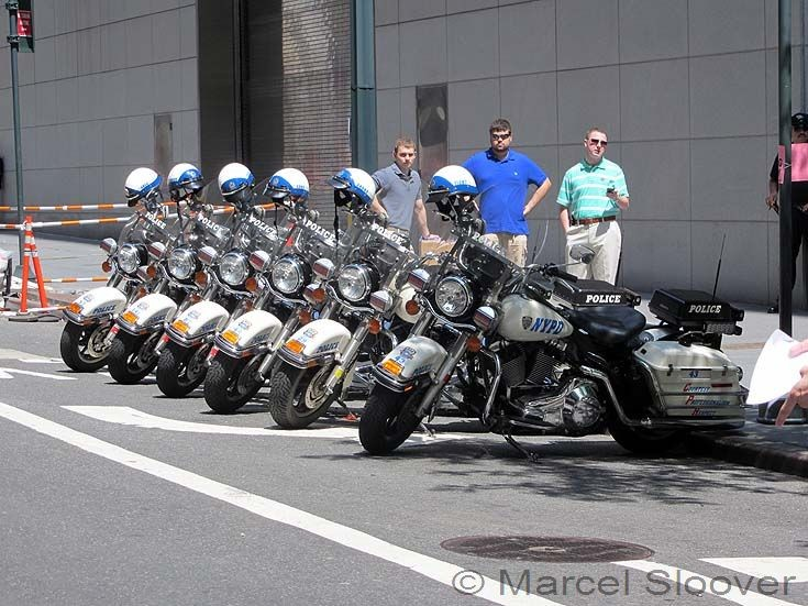 NYPD Harleys