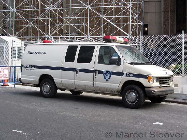 Amtrak police ford prisoner transport