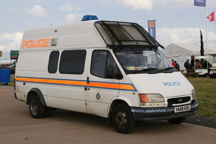 Gloucestershire Ford Transit Police van