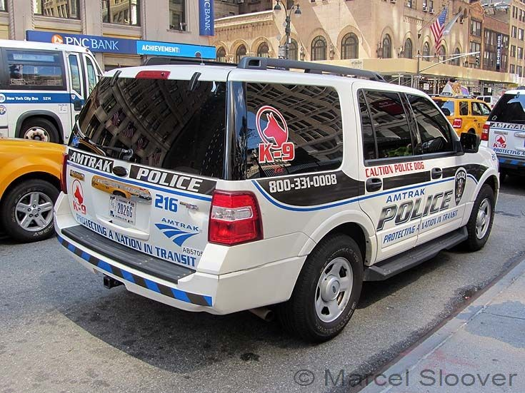 Amtrak police Ford Expedition back
