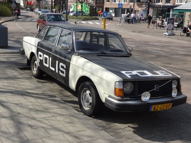 x Swedish police car in Rotterdam, the Netherlands