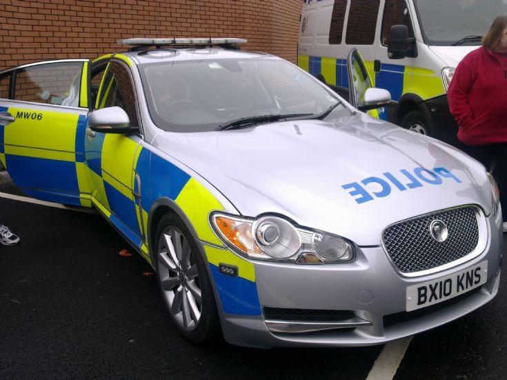 Silver Jaguar at West Bromwich
