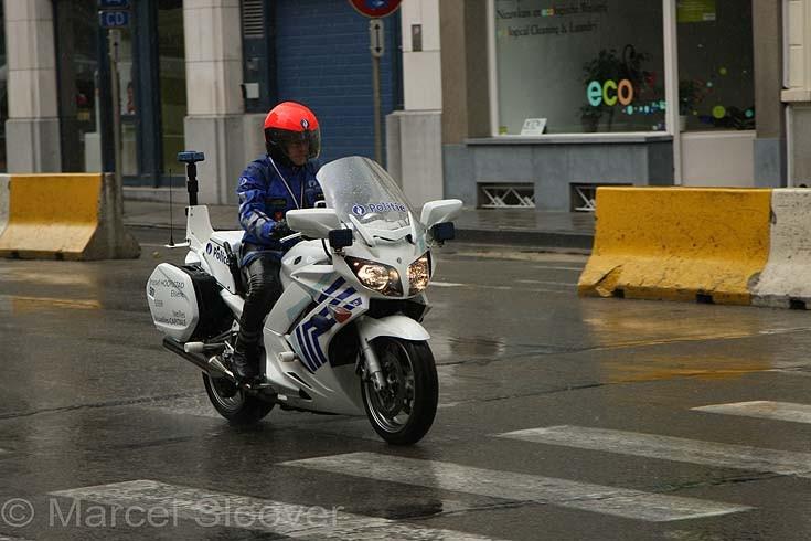Brussels Elsene Yamaha motorcycle